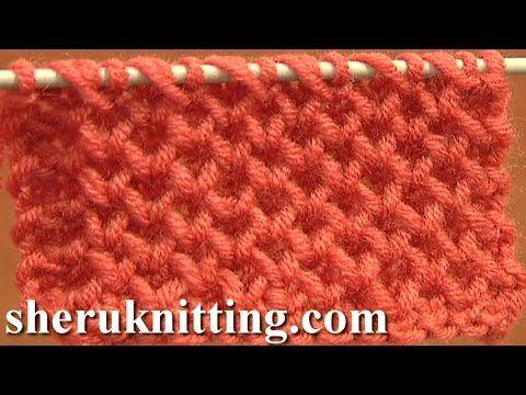Cómo Tejer Punto Panal-Honeycomb Brioche Stitch 2 Agujas (90) - YouTube