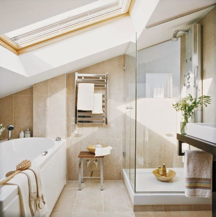 Best 25 Sloped Ceiling Bathroom Ideas On Pinterest Attic Shower Loft Ensuite And Loft Bathroom