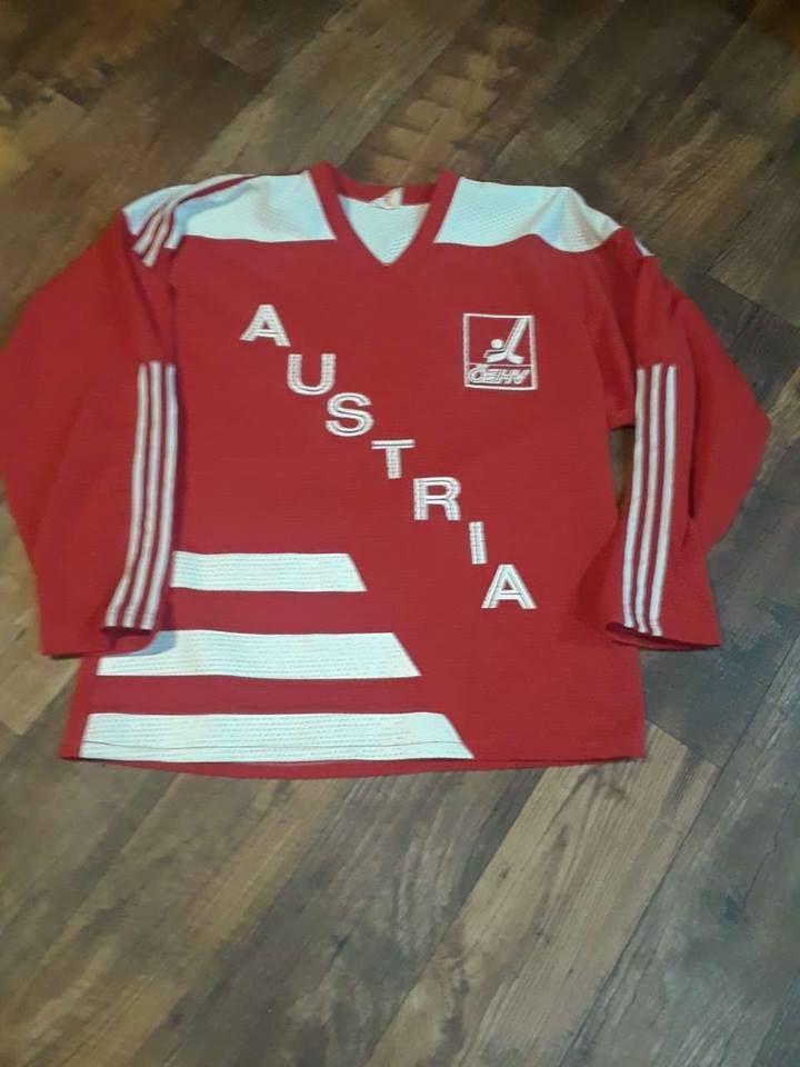 1d7d82437aa Vintage Team Austria Hockey jersey Mens Large RED (eBay Link)