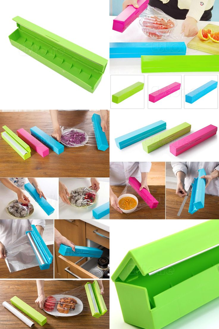 [Visit to Buy] Plastic Kitchen Foil And Cling Film Wrap Dispenser Cutter Storage Holder 3 Color #Advertisement