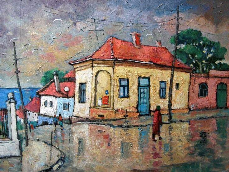 David Croitor -1958 - Old street in Bucharest