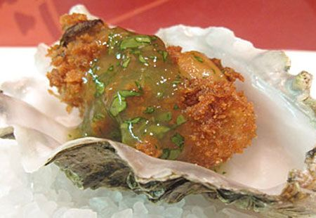 Fried Oysters with Salsa Verde. Give pan-fried oysters a spoonful of ...