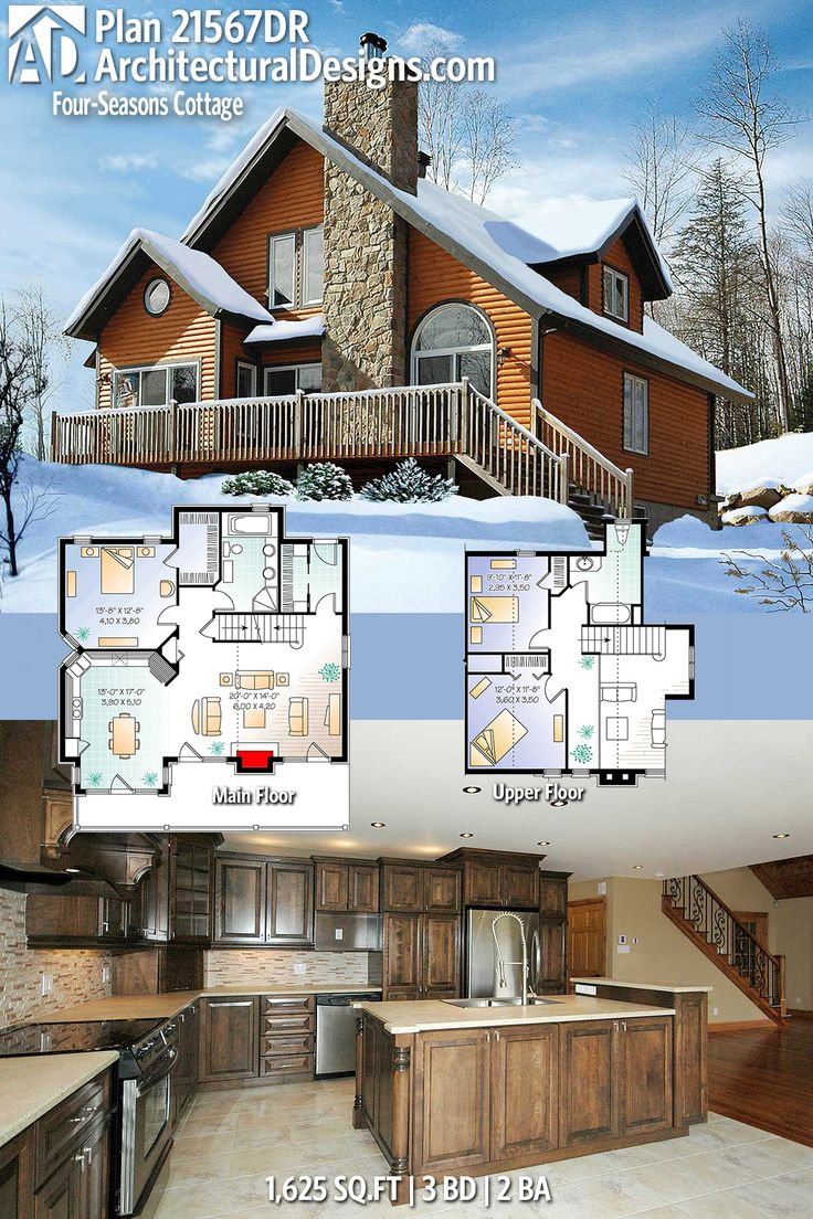 Architectural Designs Plan 21567DR has 3 beds and 2 baths and over 1,600 square feet of heated living space. Ready when you are. Where do YOU want to build? #21567dr #adhouseplans #architecturaldesigns #houseplan #architecture #newhome #newconstruction #newhouse #homedesign #dreamhome #dreamhouse #homeplan #architect #architect #houses #house #home