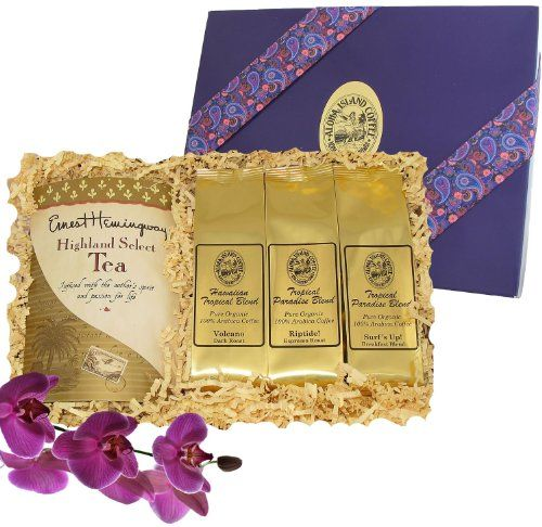 Coffee and Tea Gift of Kona Hawaiian Coffee and Tropical Tea, for Mothers Day, Fathers Day, Birthday, Christmas, All Occasions, Ground Coffee, Brews 40 Cups - http://teacoffeestore.com/coffee-and-tea-gift-of-kona-hawaiian-coffee-and-tropical-tea-for-mothers-day-fathers-day-birthday-christmas-all-occasions-ground-coffee-brews-40-cups/