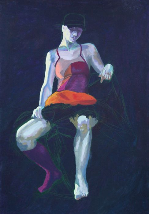 From the shadows #girl #pose #woman #painting #shadow #academic #art