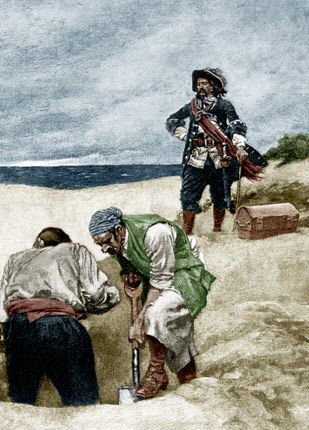 Archaeologists believe the man, who was likely in his 50s, was hung for piracy or other crimes.
