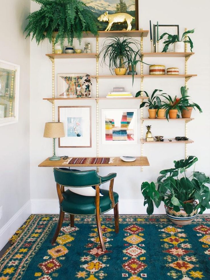DIY Mid-Century Desk Wall Unit