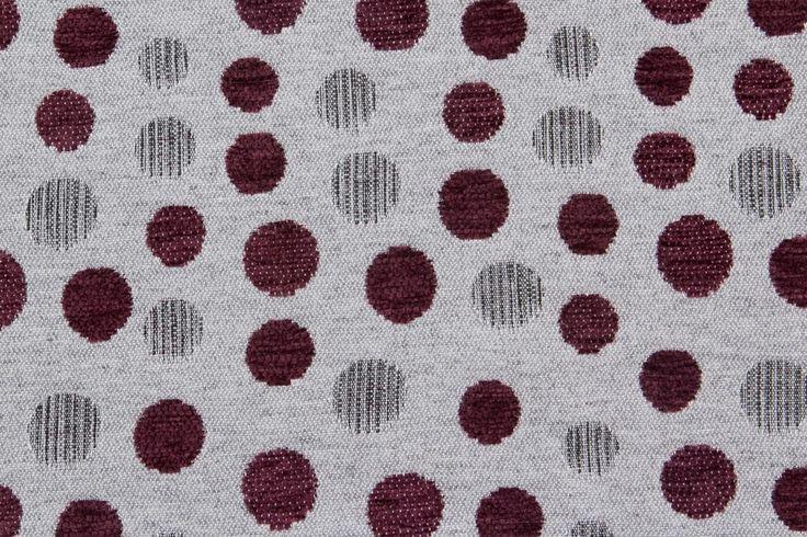 Tela indra con estampados de lunares de color morado para - Telas para tapiceria ...