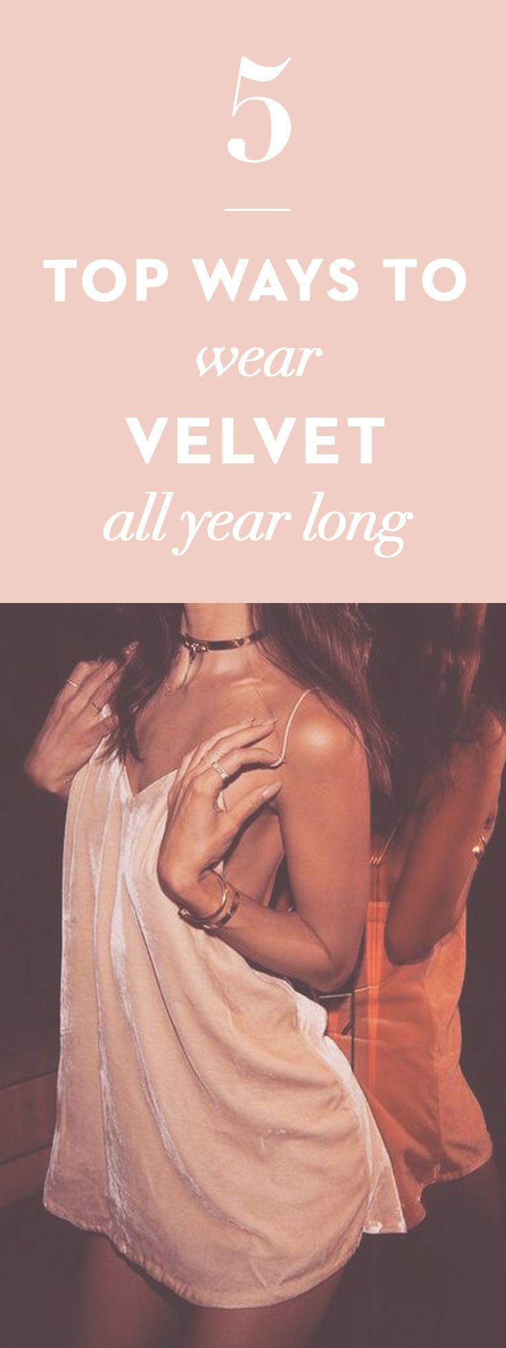 The most alluring… it's #velvet time.