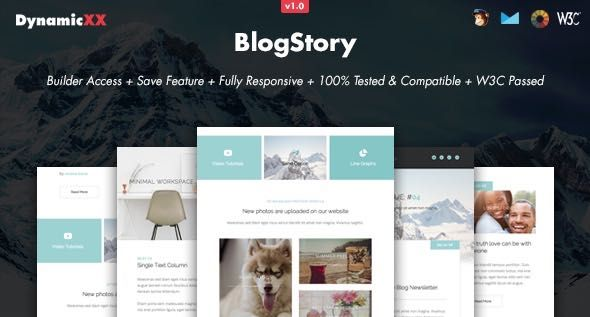 BlogStory Responsive Email Online Template Builder Template