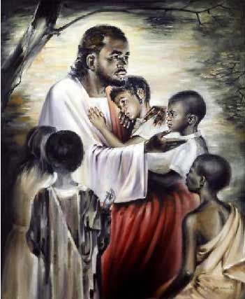 """Black Jesus Blesses the Children"" by Joe Cauchi"