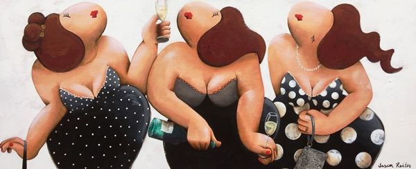 15124 Champagne 170x70. Een schilderij van Susan Ruiter Schilderijen