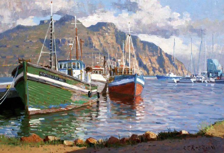"Artist: Roelof Rossouw South African Painter.""Nautical Scenes"""