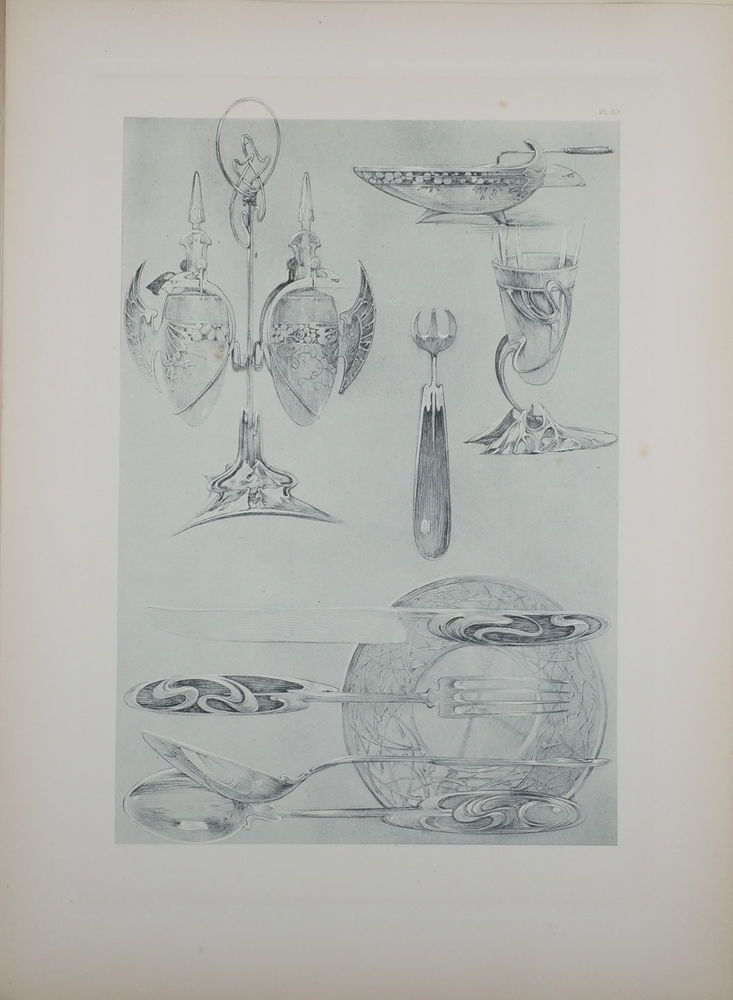 ALPHONSE MUCHA DOCUMENTS DÉCORATIFS ORIGINAL LITHOGRAPH 1902 ART NOUVEAU PL 69 #ArtNouveau