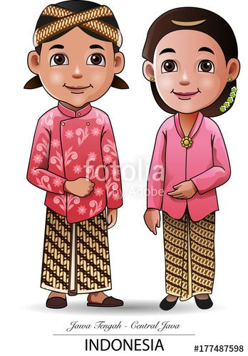 Vector: Vector illustration, Javanese traditional clothing symbol or icon