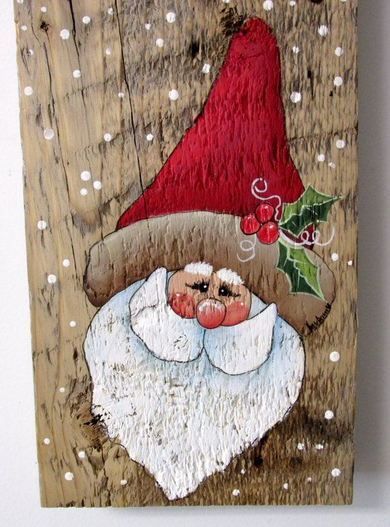 Welcome Sign Welcome Sign with Santa Hand Painted on