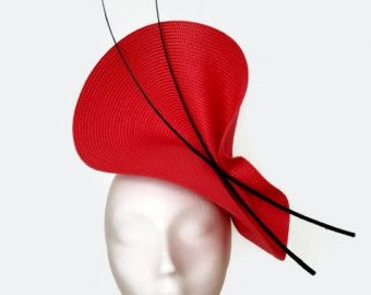 Tocado rojo plumas tocado plumas tocado mediano tocado por Tocchic