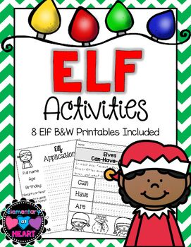 Elf Activities!8 pages of activities full of ELF!Perfect if you are doing Elf on the Shelf!What's inside:All activities come with primary and intermediate lines- - If I were an elf... writing activity - If I were an elf... graphic organizer/ lower level activity- Elf application- Elves Can-Have-Are- Elf Descriptions (using adjectives)- Short e words activity /e/ as in elf- North Pole writing activity- Elf ABC OrderPerfect for your little kiddos this holiday season!