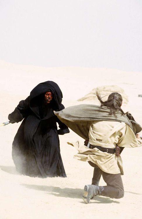 Star Wars The Phantom Menace deleted scene featuring Darth Maul vs Qui Gon Jinn