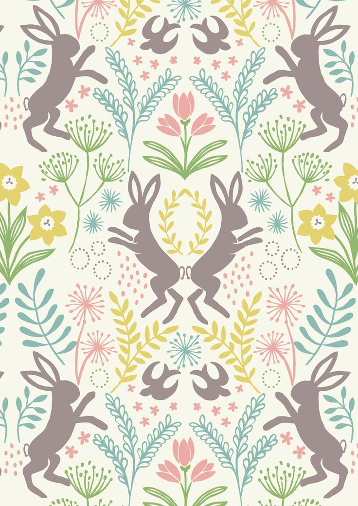 ⋆☆❅∘❃∘❃∘❅☆LEWIS-AND-IRENE-SPRING-HARE-FAT-QUARTER-ART-CRAFT-QUILTING-PATCHWORK-FABRIC