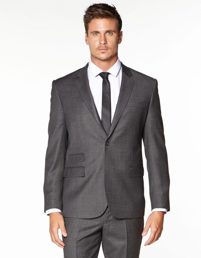 Madison Ave Slim Merino Suit Jacket | Men's Suit Jackets | Hallenstein Brothers