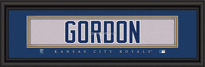 "Kansas City Royals Alex Gordon Print - Signature 8""""x24"""" Z157-4865503721"