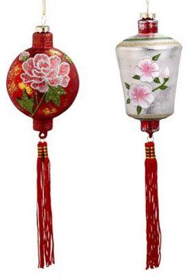 Chinese Lantern Ornament Set - asian - holiday decorations - - by World Market