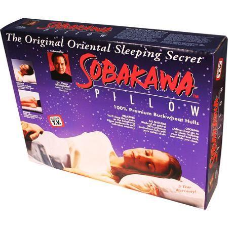 As Seen on TV Sobakawa Buckwheat Hull Pillow, Queen Size - Walmart.com