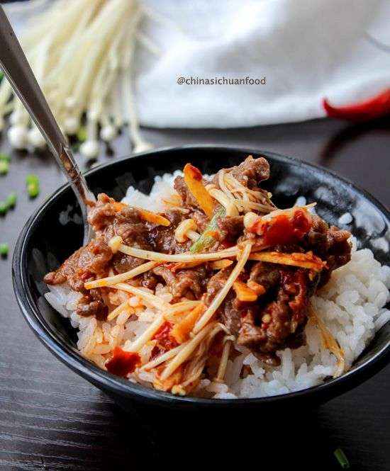 Stir-fried Beef with Needle Mushroom: Needle Mushrooms, Chine Recipes, Asian Food, Stir Fries Beef, Asian Cooking, Beef Stir Fries Noodles, Stirfri Beef, Chinese Recipes, Recipes Asian