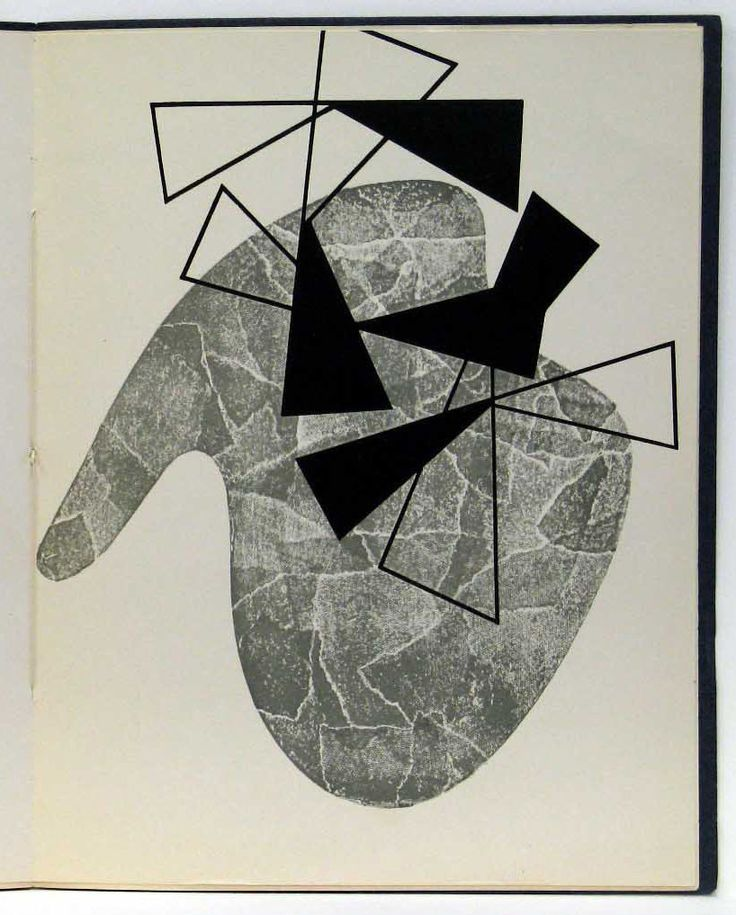 """Jean (Hans) Arp with Sophie Taeuber-Arp. Die Engelsschrift. 1952.  (Print executed 1926).. the artist. Sophie Taeuber-Arp. Illustrated book with one lithograph. composition (irreg.): 9 5/8 x 8"""" (24.4 x 20.3 cm); page: 10 5/8 x 8 1/4"""" (27 x 21 cm). Curt Valentin Bequest. 37.1956. © 2016 Artists Rights Society (ARS), New York / VG Bild-Kunst, Bonn. Drawings and Prints"""