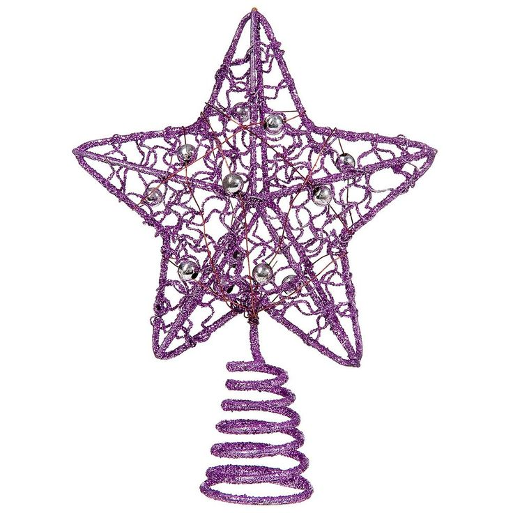Purple Christmas Tree Topper Star Xmas Decoration Home Ornaments Happy Holidays in Home, Furniture & DIY, Celebrations & Occasions, Christmas Decorations & Trees | eBay. Mariah's tree.