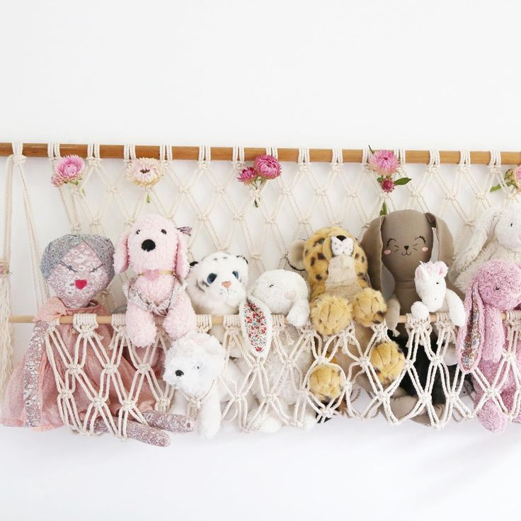 Macrame Stuffed Toy Hanger in 2020 Stuffed animal