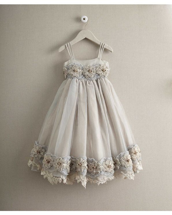 girls heirloom rosette dress | Chasing Fireflies