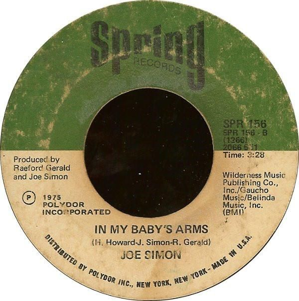 Joe Simon * In My Baby's Arms / Get Down, Get Down 7""