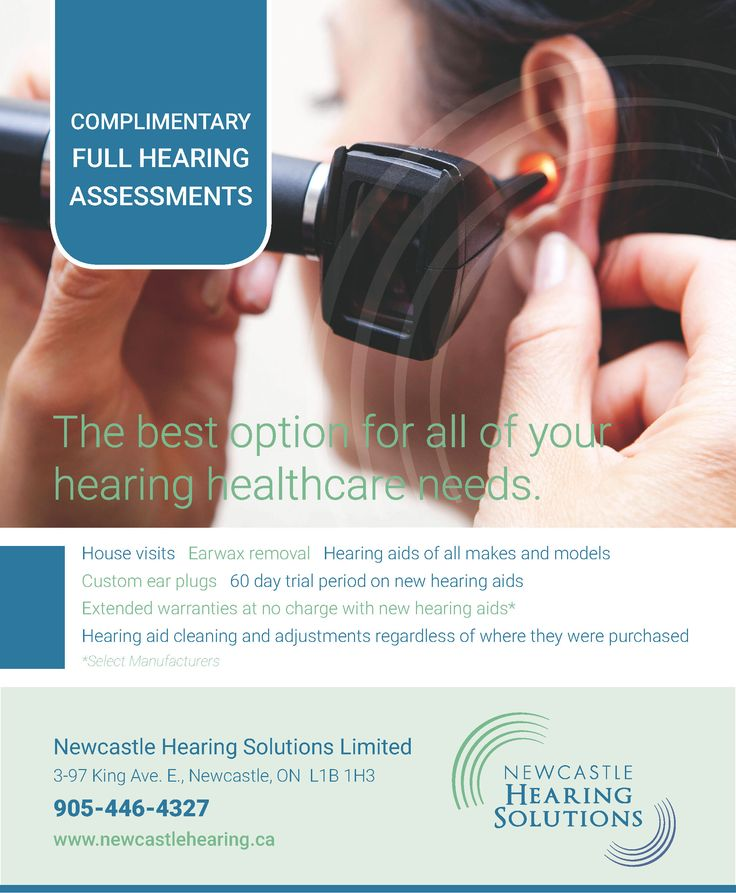 Newcastle Hearing Solutions Ad Design for Newcastle and District Chamber of Commerce Business Directory