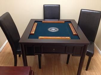 Wood automatic mahjong table mahjong pinterest woods for Table 0 5 ans portneuf