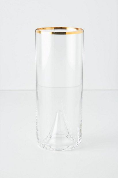 This was my 21st birthday cup! (emphasis on was :( )  Pooled Gold Highball Glass #anthropologie