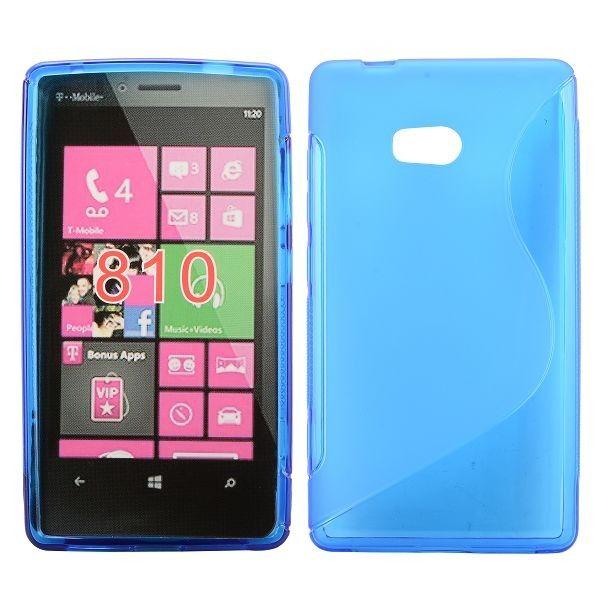 S-Line Transparent (Blå) Nokia Lumia 810 Cover