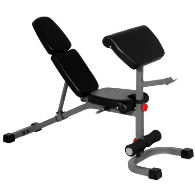 Fid Bench And Preacher Curl Attachment With Bar Holderback Cushion Adjusts Easily From Decline To Upright S Weight Benches Preacher Curls Incline Decline Bench