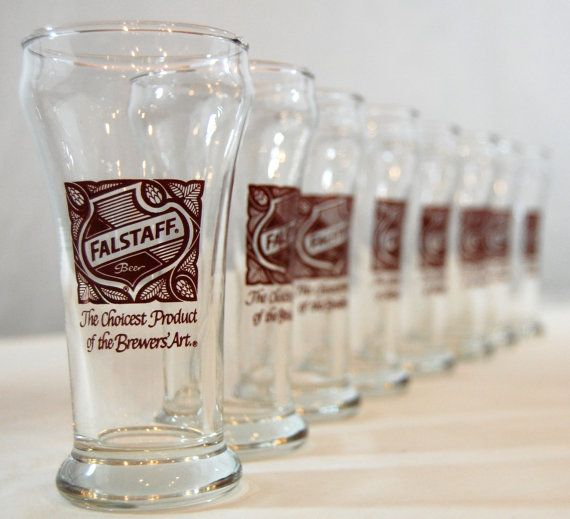 Vintage Falstaff Beer Chaser Glasses by TheEclecticInterior, $26.00