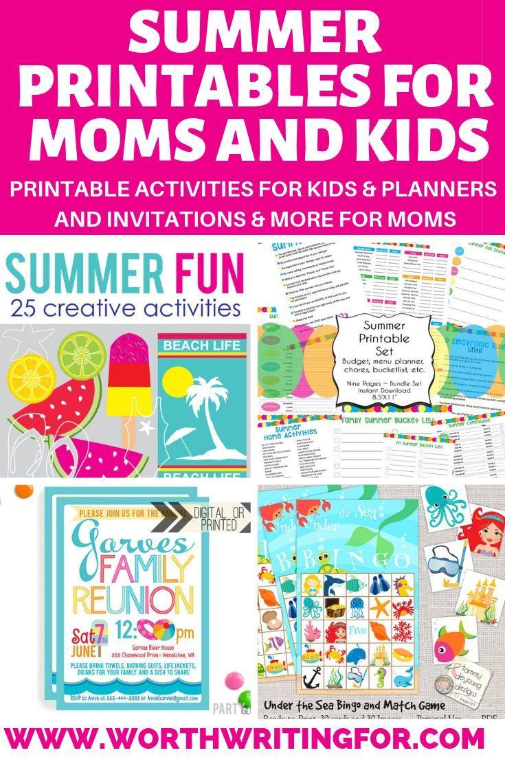25 Summer Printables For Kids Fall Preschool Activities