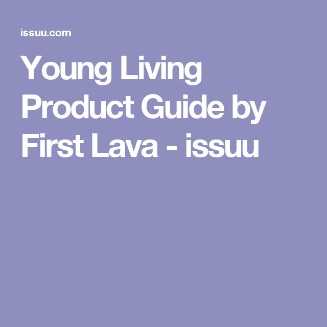 Young Living Product Guide by First Lava - issuu