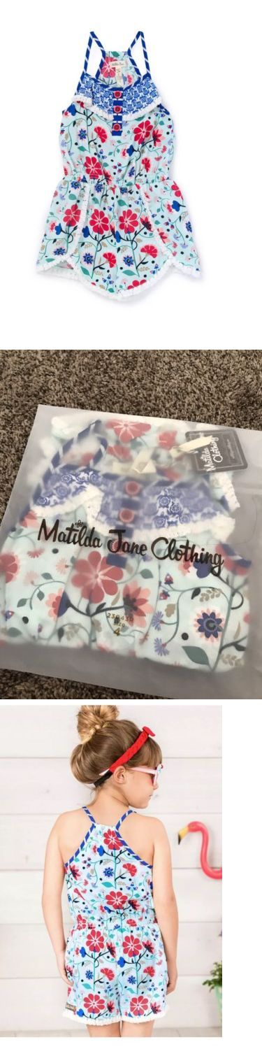 Jumpsuits and Rompers 175528: Matilda Jane Clothing Tug Of War Romper Girls Size 4 Fourth Of July Jumper Nwt -> BUY IT NOW ONLY: $42 on eBay!