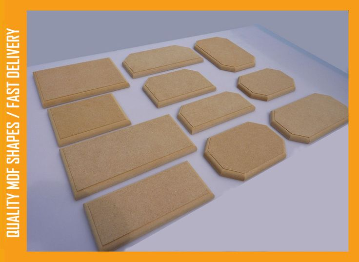 MDF Wooden Craft Shapes Blanks Plaques Shield Templates Plinth Square Rectangle in Crafts, Woodworking | eBay