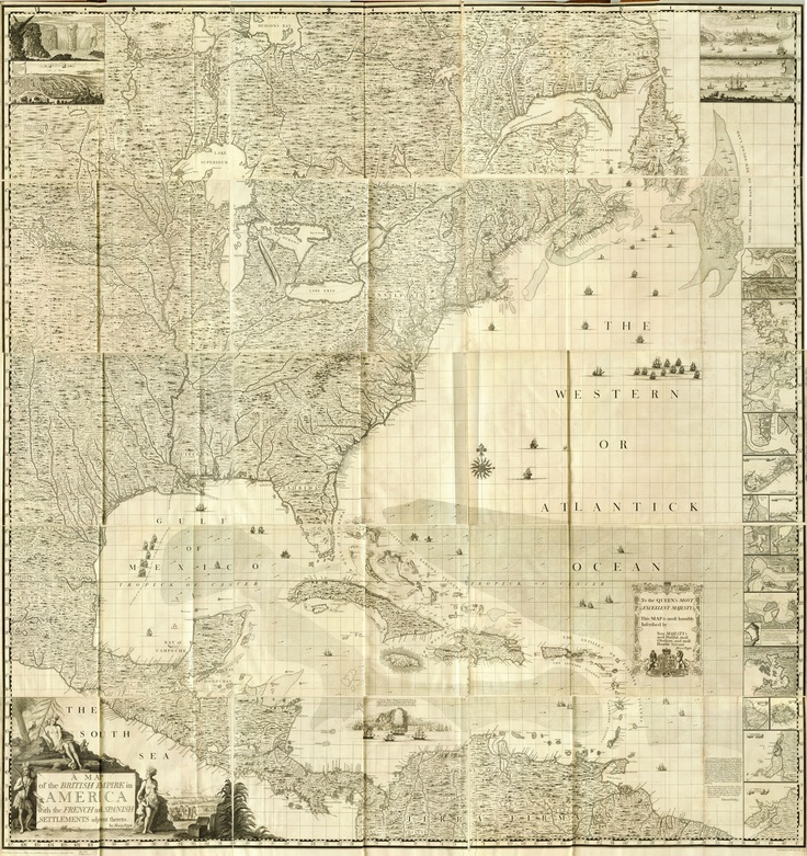 high res map of the Americas from 1733 - in the public domain from here: http://commons.wikimedia.org/wiki/File:1733_A_Map_Popple.jpg