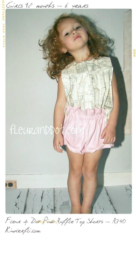 Fleur + Dot Ruffle Top Pink Shorts from Kinderfli.com