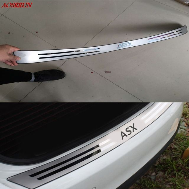 Car Styling Stainless Steel After The Guard Back Shrouds Rear Bumper Sill Fit For Mitsubishi Asx 2010 2017 Car Accessories Auto R Interior Mouldings In 2019