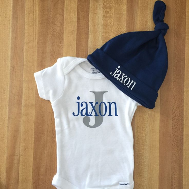 Going home newborn onesie outift, baby boy take home outfit, baby shower gift idea, name, initial, bodysuit, creeper, hat set, initial by SewCutebyEmma on Etsy https://www.etsy.com/listing/514598641/going-home-newborn-onesie-outift-baby