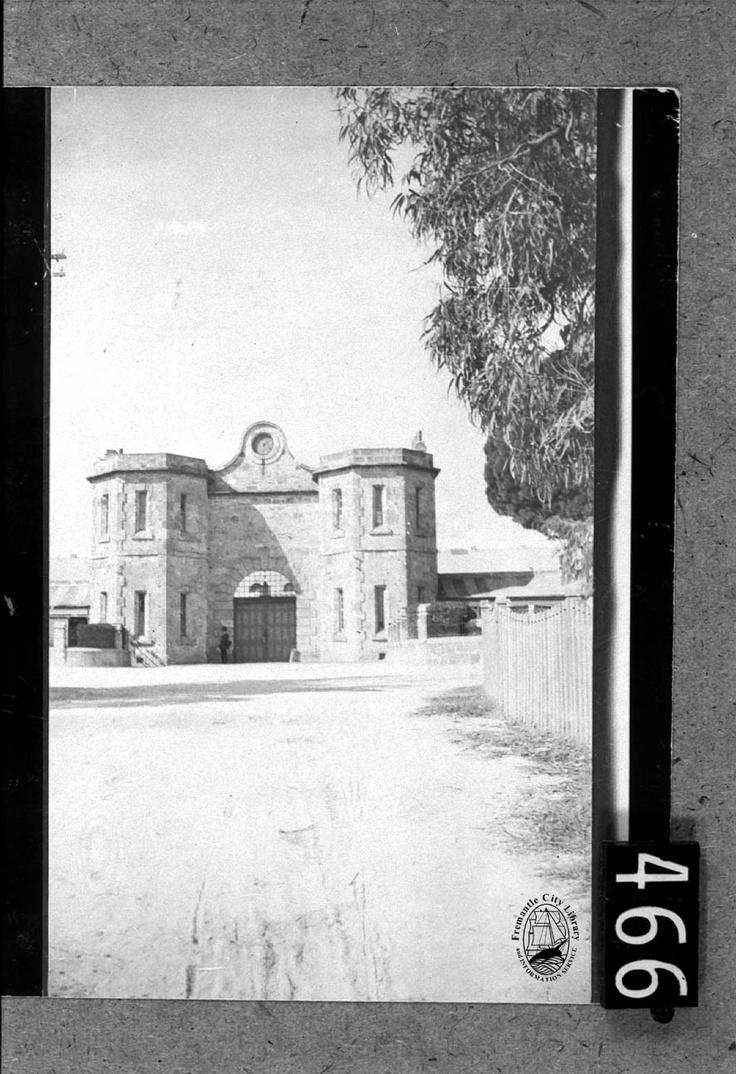Fremantle Prison gateway c.1855