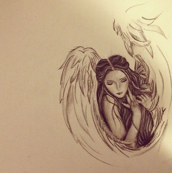 Gallery For gt Angel Drawing Tattoo